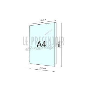 Porte Affiche Plexi 2 mm A4 Vertical
