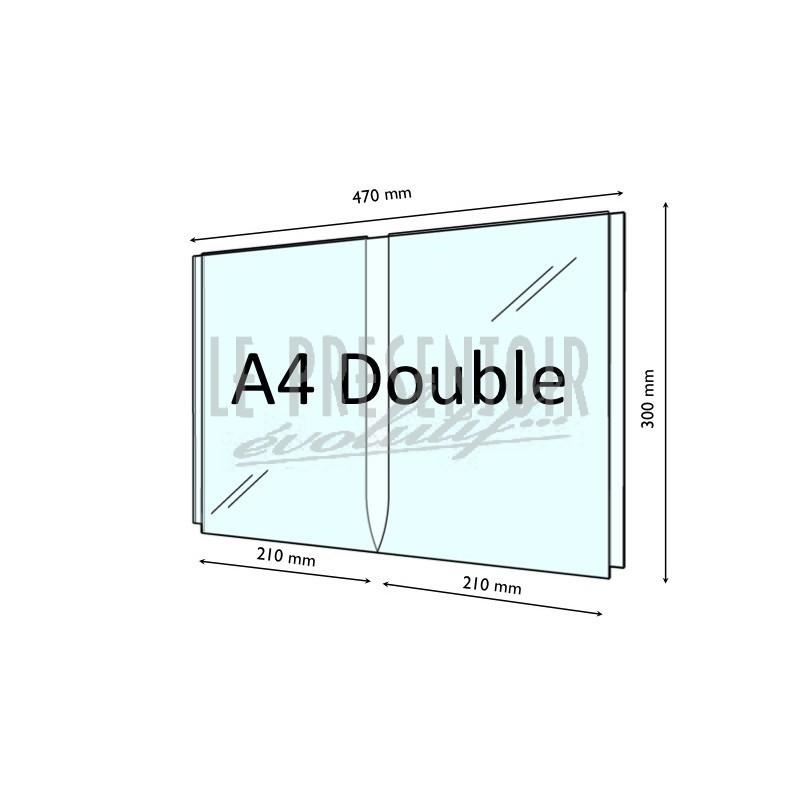 Porte Affiche Plexi 2 mm double A4 Vertical
