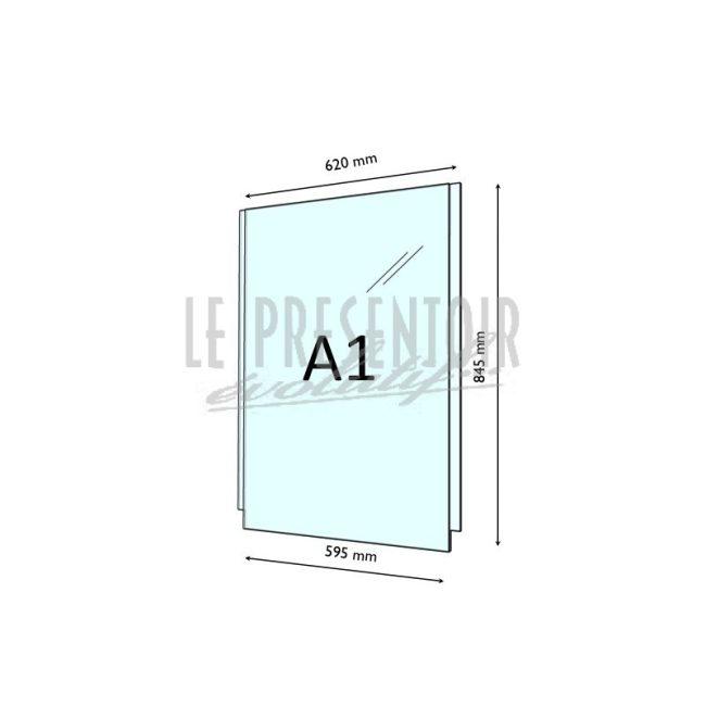 Porte Affiche Plexi 3 mm A1 Vertical