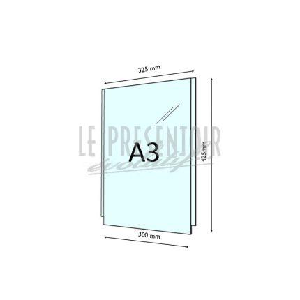 Porte Affiche Plexi 3 mm A3 Vertical