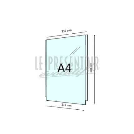Porte Affiches Plexi 3 mm A4 Vertical