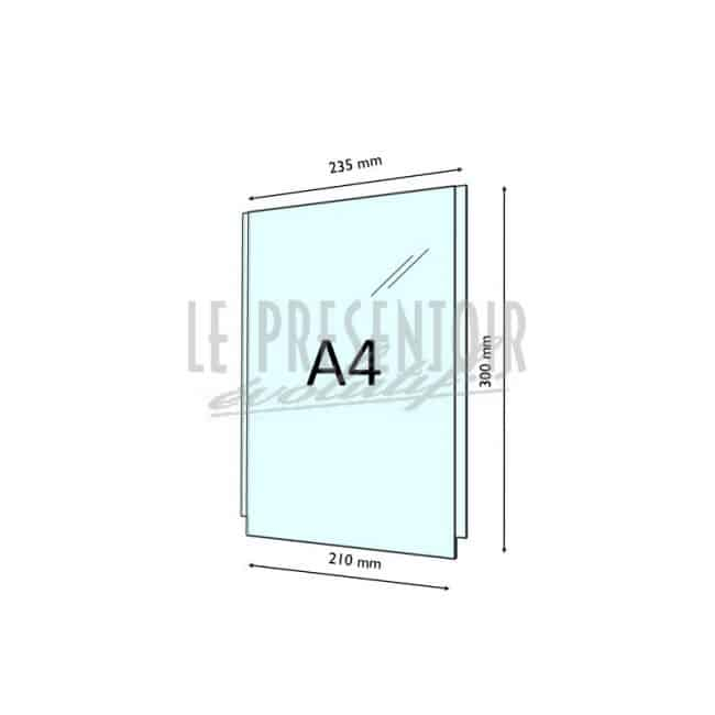 Porte Affiches Plexi 3 mm A4 Vertical