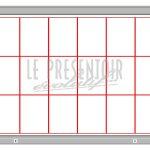 Vitrine d'affichage 1000 x 1350mm 18 A4