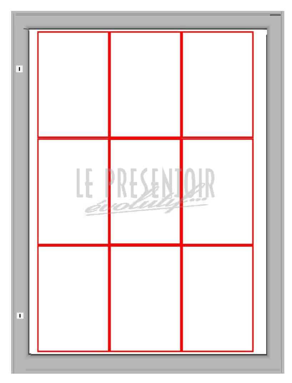 Vitrine d'affichage 1000 x 750mm 9 A4