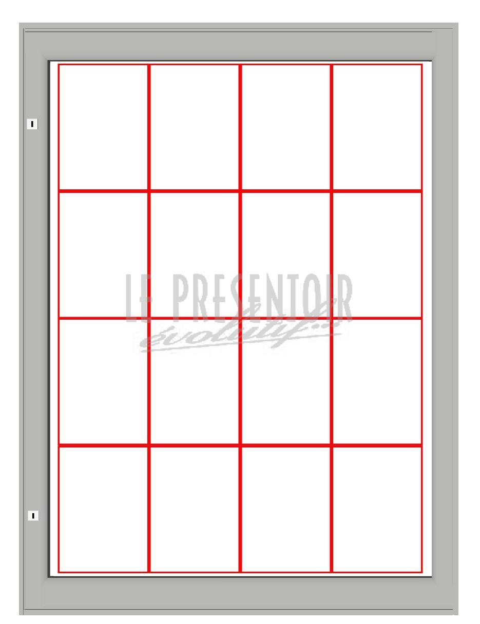 Vitrine d'affichage 1350 x 1000mm 16 A4