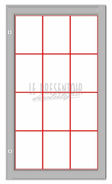 Vitrine d'affichage 1350 x 750mm 12 A4