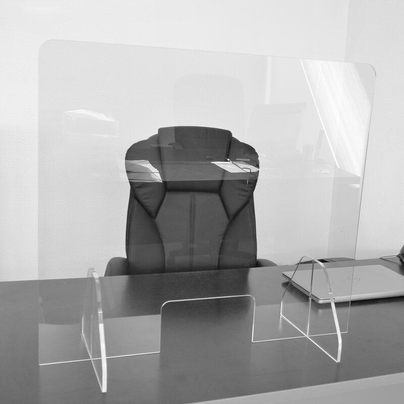 Hygiaphone de protection de comptoir en plexiglass 76x67 cm
