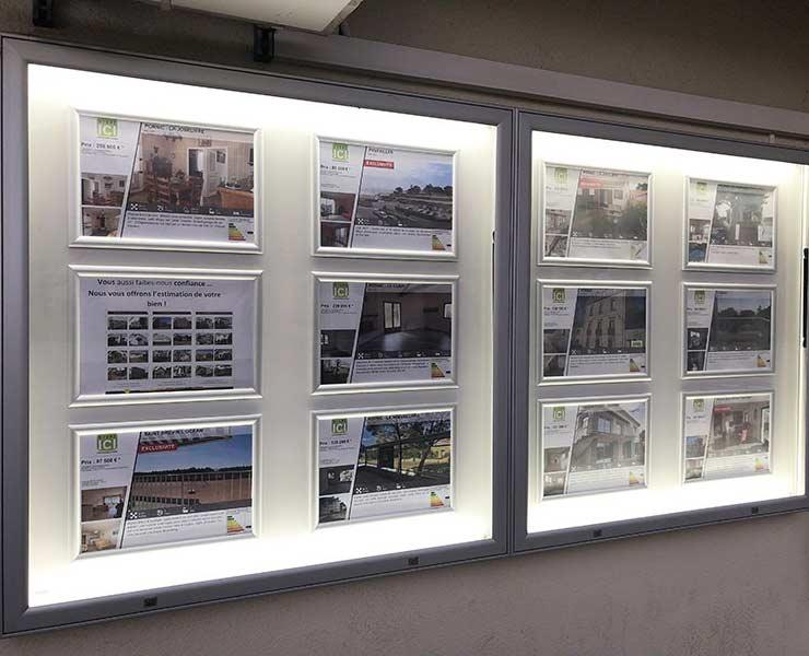 Des solutions de vitrine d'affichage extérieur pour chaque situation