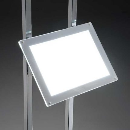 Porte Affiche led A4 avec support incliné